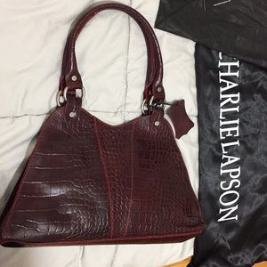 CHARLIE LAPSON  leather bag BNWT made in Italy